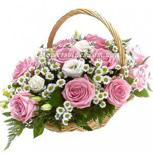 кошик троянд та хризантем купити