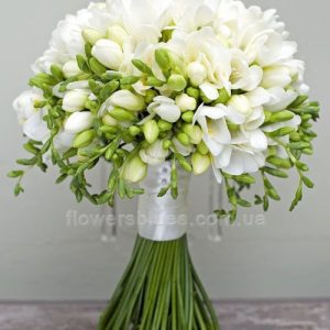 білий весільний букет