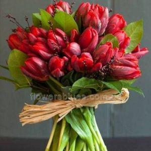 букет молодої з тюльпанів