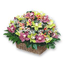 купити квіти в корзині