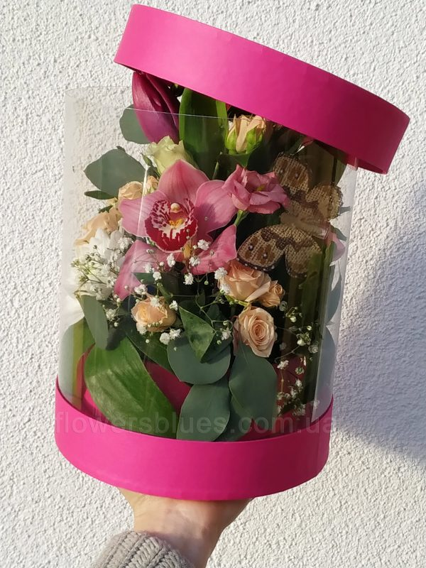 квіти за склом
