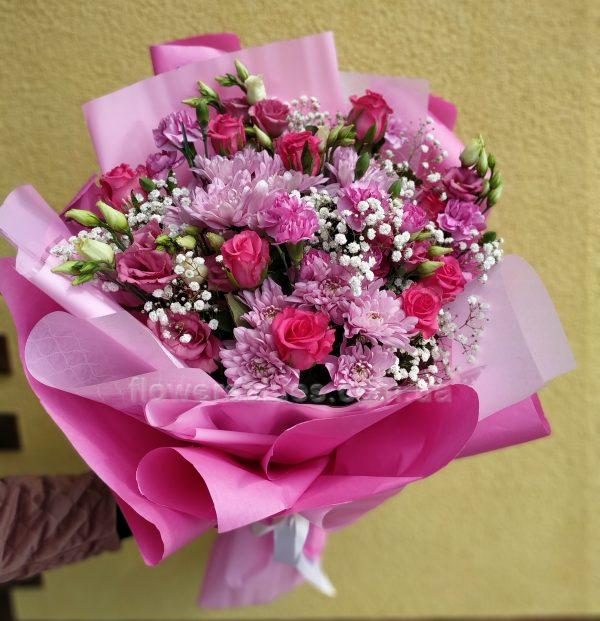 рожевий букет