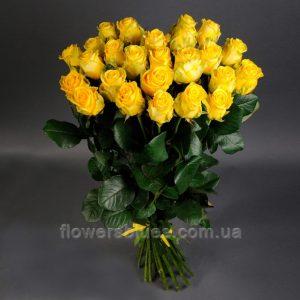 жовті троянди букет