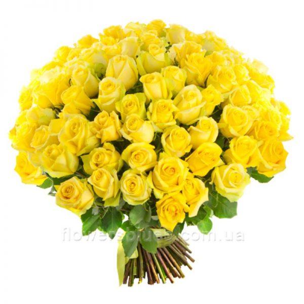 букет з жовтих троянд