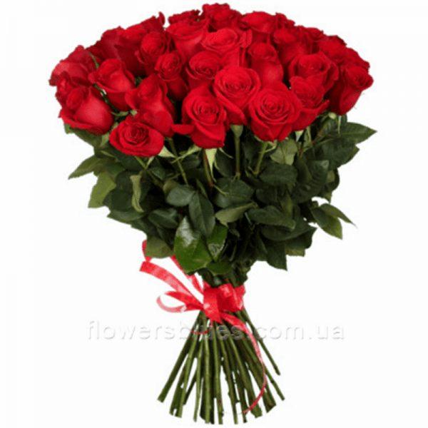 червоні троянди букет
