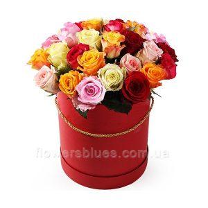 коробка з трояндами