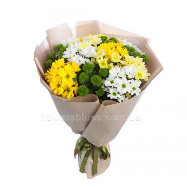 букет з хризантемами